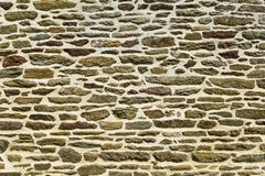 Stone wall texture. Brittany, France Stock Photos