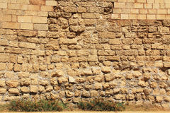 Stone Wall texture Caesarea Maritima National Park Stock Image