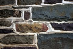 Stone Wall Texture. From Central Pennsylvania at Fort Hunter Museum Stock Image
