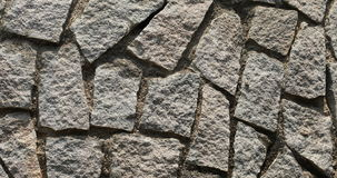 Stone wall texture close up stock footage