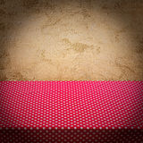 Stone wall texture with cloth. Royalty Free Stock Photos