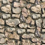 Stone Wall. Seamless Tileable Texture. Stock Photo