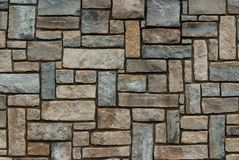 Stone Wall Texture 1654. Detail of a stone wall texture. Multiple squares and rectangles royalty free stock photos