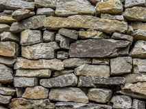 Stone wall texture. The texture of grey rough stone wall Stock Image