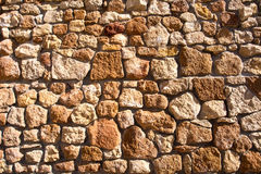 Stone wall. Texture in horizontal position Royalty Free Stock Photography
