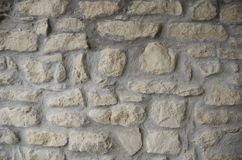 Stone wall texture. Old stone wall texture background Stock Photo