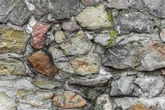 Stone wall texture. Old vintage stone wall texture Stock Photography