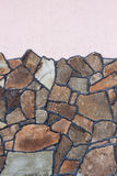 Stone wall with texture Royalty Free Stock Images