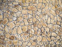 Stone wall texture. Old ancient detailed surface Royalty Free Stock Photos
