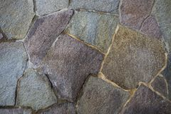 The stone wall texture surface detail image close up Stock Photography