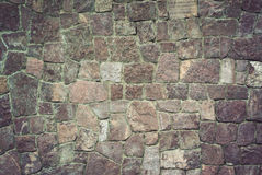 Stone wall texture of vintage background Royalty Free Stock Photos