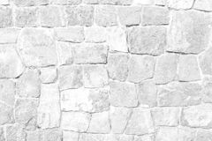 Stone wall texture White color Stock Image