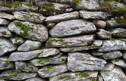 Stone wall. A stone wall textured background Stock Photography