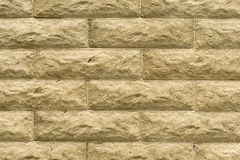 Stone wall in textured blocks Royalty Free Stock Image