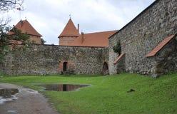 Stone wall of Trakai Castle,Lithuania Royalty Free Stock Photos