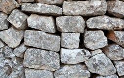 Stone wall of a Trullo in Alberobello Royalty Free Stock Image