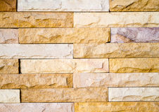 Stone Wall. Vertical image of flat stacked slate bricks used as a feature Royalty Free Stock Photo