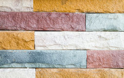 Stone Wall. Vertical image of flat stacked slate bricks used as a feature Stock Photos