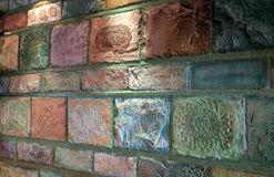 Stone wall. From a vintage restaurant Royalty Free Stock Photo