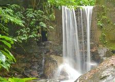 Stone wall waterfall Stock Photo