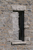 Stone Wall with Window. Window of old building on Victoria Island. Ottawa, Ontario. Canada Royalty Free Stock Photos