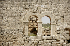 Stone wall and window Stock Photos