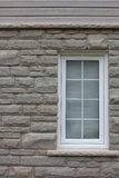Stone Wall with Window Background Stock Photography