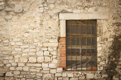 Stone wall with window Stock Images