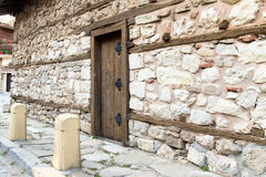 Stone wall wooden door Royalty Free Stock Photo