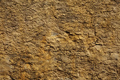 Stone wall yellow in small cracks Royalty Free Stock Photos