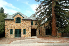 Stone walls. Stone walled house stock photography