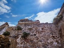 Stone walls of the ancient fort royalty free stock image