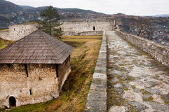 Stone walls of the ancient fortress Royalty Free Stock Photos