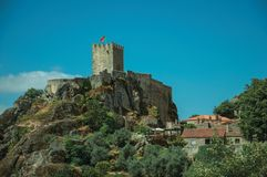 Free Stone Walls And Tower Of Castle Over Rocky Cliff Stock Image - 146756171