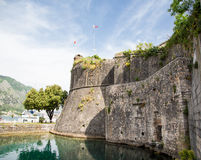 Stone Walls and Bay in Kotor Royalty Free Stock Images
