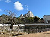 Stone Walls and Defensive Loopholes at Himeji Castle, Japan. Stone walls and defensive loopholes in the shape of circles, triangles and rectangles at Himeji Stock Image