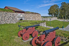 Stone walls at fredriksten fortress Royalty Free Stock Image