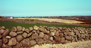 Stone walls in holywood,northern ireland Royalty Free Stock Image