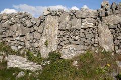 Stone Walls on Inishmore; Aran Islands Stock Photography