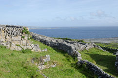 Stone walls, inismeain, aran islands, ireland Royalty Free Stock Photos