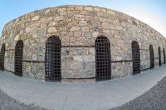 Yuma Territorial Prison, Yuma, Arizona. Stone walls and iron gates, Yuma Territorial Prison in Yuma, Arizona Stock Image