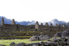 Stone Walls Machu Picchu Peru South America Royalty Free Stock Images