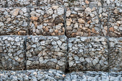 Stone walls prevent erosion of the mountain Royalty Free Stock Photo