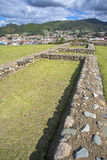 Stone walls of Pumapungo ruins Stock Images