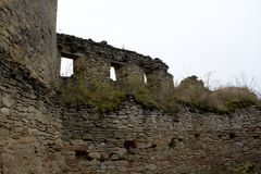 Old ruined walls Stock Images