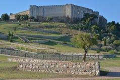Stone walls at Sohail castle Fuengirola Royalty Free Stock Photos