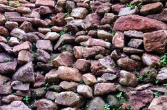 The stone walls. Are stacked together royalty free stock photo
