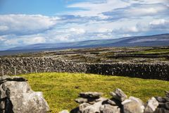 Stone Walls. On Innis Oirr co Galway Royalty Free Stock Photo