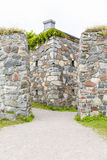 Stone walls of Suomenlinna fortress in Helsinki, Finland. Mighty stone walls of Suomenlinna fortress in Helsinki, Finland in summer Royalty Free Stock Image