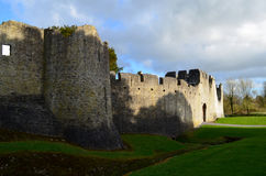 Stone Walls Surrounding Desmond Castle Ruins Royalty Free Stock Image